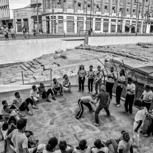 A capoeira roda on the site of the Cais do Valongo slave trading complex