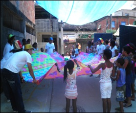 Alfazendo activities on Children's Day in City of God