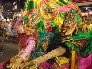 Dancers from the Favo de Acari samba school