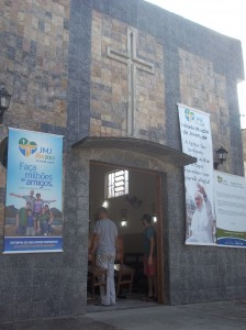 The São Jerónimo chapel in Varginha prepares for the Pope's visit on Thursday
