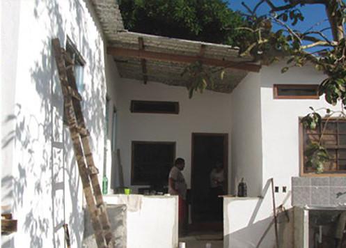 A casa depois do trabalho com o Arquiteto família. Foto por Soluções Urbanas