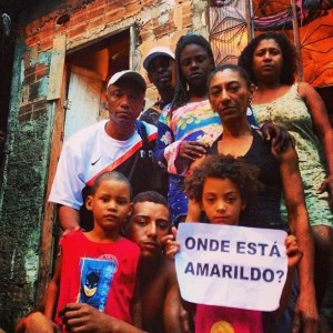 """Where is Amarildo?"" The Rocinha bricklayer's family in July 2013"