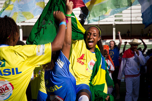 The Brazil Girls Team are the Street Child World Cup 2014 champions. Photo by Street Child World Cup