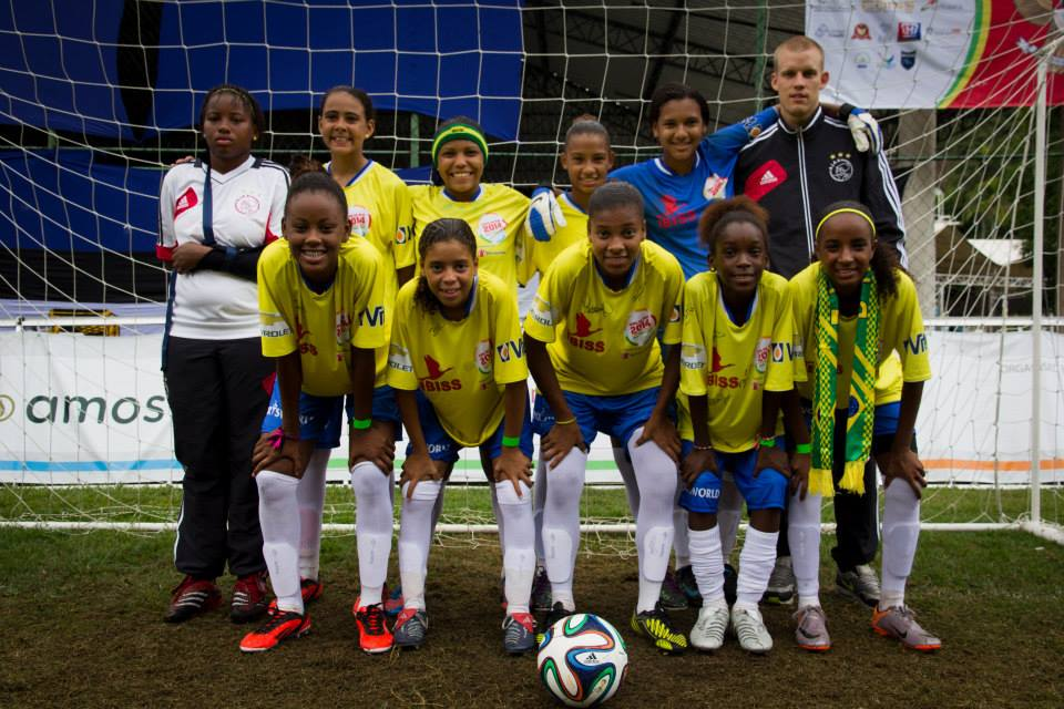 Brazil Girls Team. Photo by Street Child World Cup