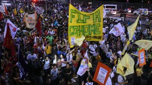 Protest in Rio de Janeiro on May 15. Photo by Christophe Simon/AFP