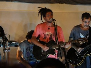 Local band Casa de Swing plays at the SUBA event. Photo: Lorraine Gaucher-Petitdemange