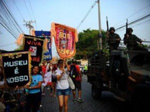 Protest to avoid the eviction of Museu da Maré. Photo: Fernando Frazão