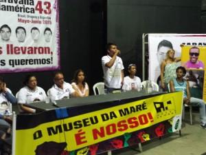 Caravana 43 spoke in Museu da Maré