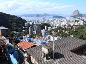 View of Rio's South Zone from favela Pereira da Silva