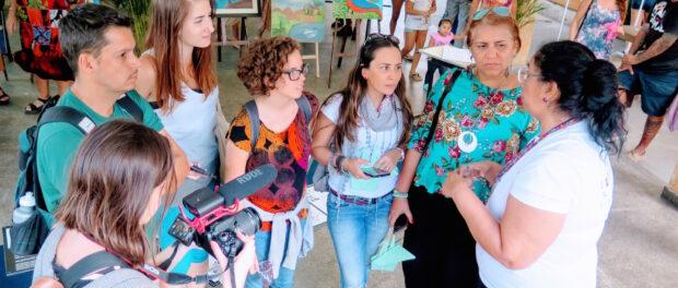 Iara Oliveira describes Eco Rede to SFN members