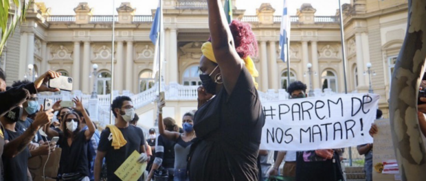 Demonstration against racism and police violence in Rio. Photo: Luna Costa