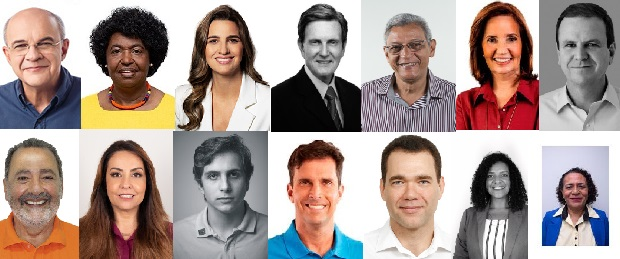Candidates running for Rio de Janeiro's 2020 Mayoral Elections