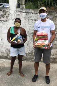 Food distribution by Defenders of the Planet