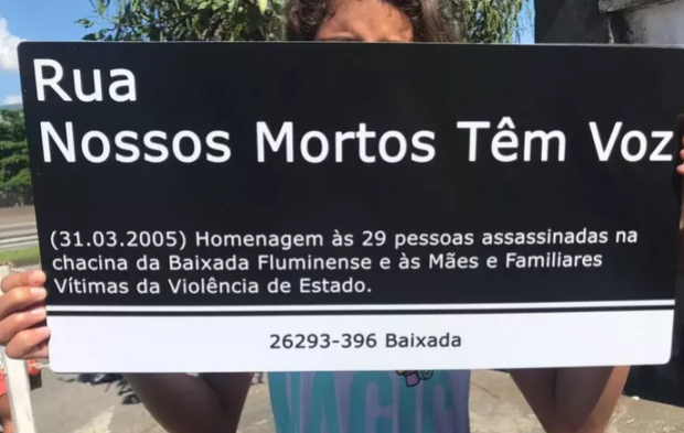 Our Dead Speak Street – (31.03.2005) In honor of the 29 people killed in the Baixada Fluminense massacre and to the Mothers and Relatives of the victims of State Violence. 26293-396 Baixada