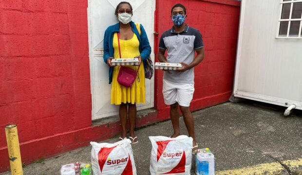 6th annual Black July: baskets of basic foodstuffs are delivered