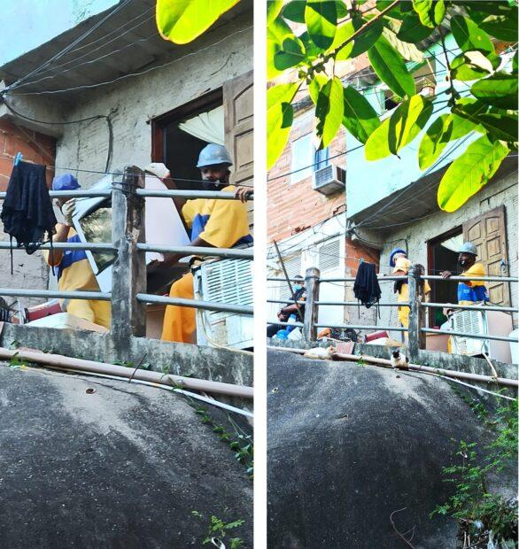 Estradinha: employees take away residents' belongings