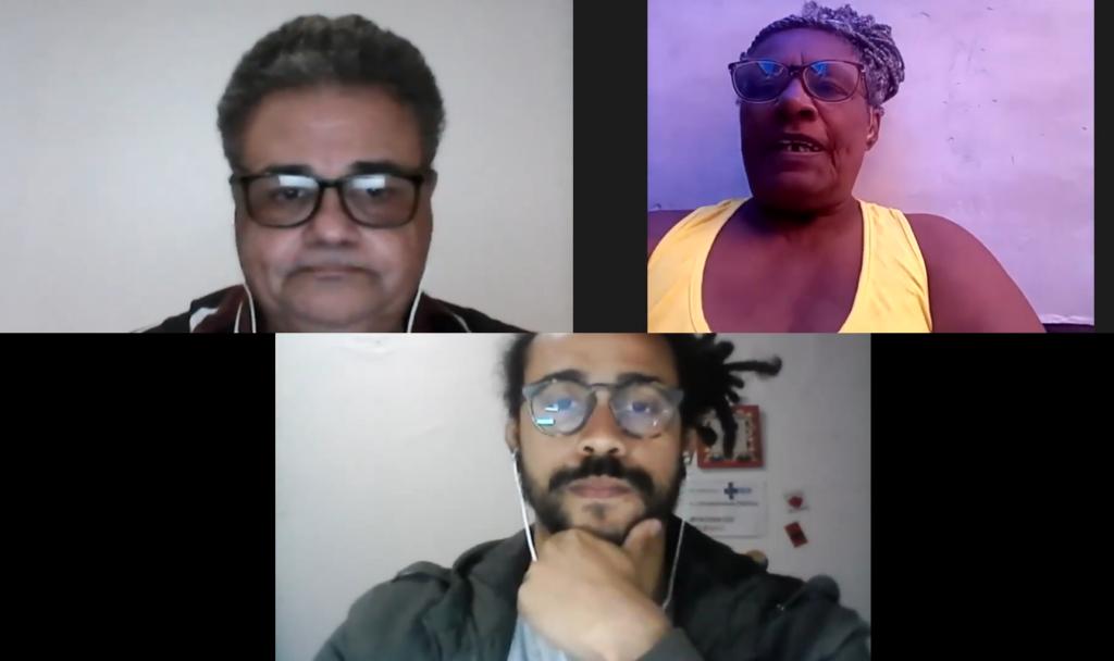 Jacob Portela, Ana Leila and Hugo Oliveira during the live event