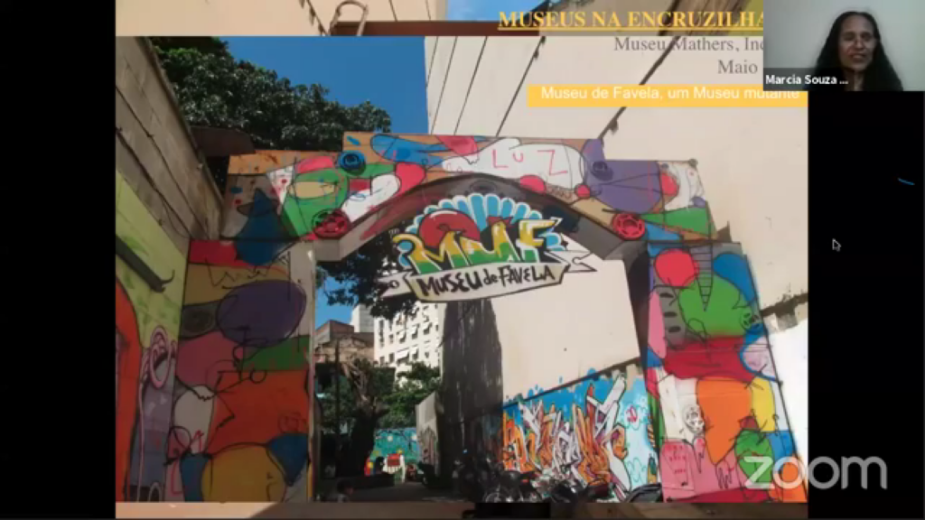 Márcia Souza, resident of the Cantagalo favela, shares with pride the open-air museum located in the neighbourhood in which she's been living since she was born