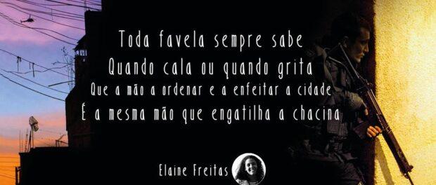 6th annual Black July: ADPF of the Favelas: Elaine Freitas's poem